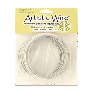 Artistic Wire, 10 Gauge (2.6 mm), Tinned Copper, 25 ft (7.6 m)