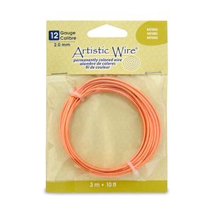 Artistic Wire, 12 Gauge (2.1 mm), Natural, 10 ft (3.1 m)