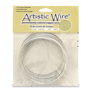 Artistic Wire, 12 Gauge (2.1 mm), Tinned Copper, 25 ft (7.6 m)