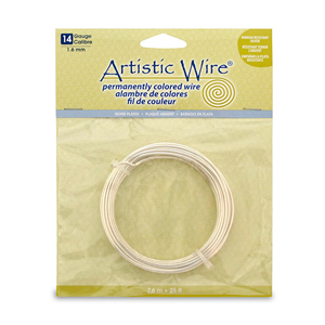 Artistic Wire, 14 Gauge (1.6 mm), Silver Plated, Tarnish Resistant Silver, 25 ft (7.6 m)