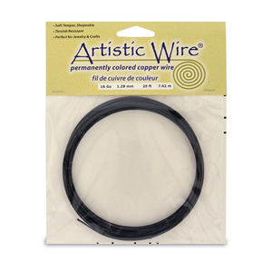 Artistic Wire, 16 Gauge (1.3 mm), Black, 25 ft (7.6 m)
