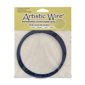 Artistic Wire, 16 Gauge (1.3 mm), Dark Blue, 25 ft (7.6 m)