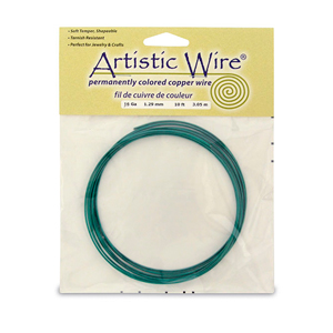 Artistic Wire, 16 Gauge (1.3 mm), Kelly Green, 10 ft (3.1 m)