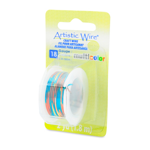 Artistic Wire, 18 Gauge (1.02 mm), Multicolor, Blue, Red, Gold,  2 yd (1.8 m)