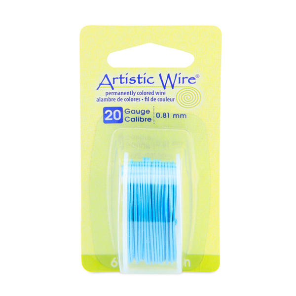Artistic Wire, 20 Gauge (.81 mm), Powder Blue, 6 yd (5.5 m)