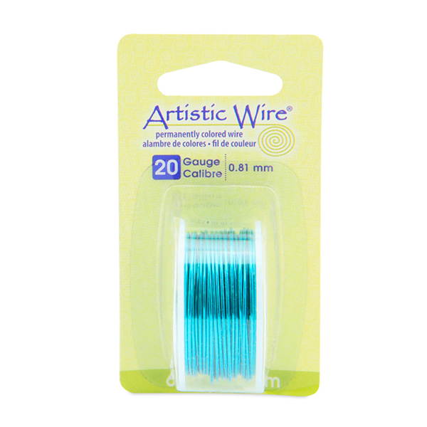 Artistic Wire, 20 Gauge (.81 mm), Turquoise, 6 yd (5.5 m)