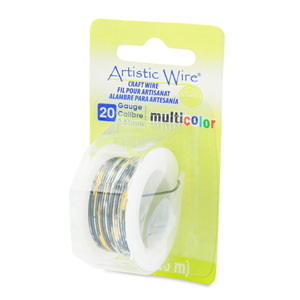 Artistic Wire, 20 Gauge (0.81 mm), Multicolor, Silver, Gold, Black, 4 yd (3.6 m)