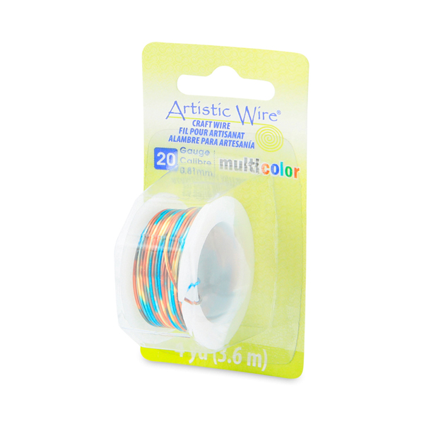 Artistic Wire, 20 Gauge (0.81 mm), Multicolor, Blue, Red, Gold, 4 yd (3.6 m)