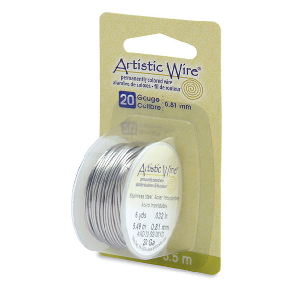 Artistic Wire, 20 Gauge (.81 mm), Stainless Steel, 6 yd (5.5 m)