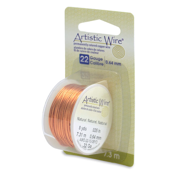 Natural Artistic Wire 22 Gauge #AWD-22-10-08YD  Diy Beads 8 yd 7.3 m .64 mm