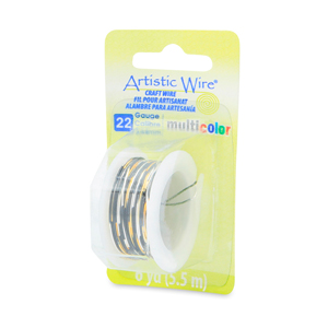 Artistic Wire, 22 Gauge (0.64 mm), Multicolor, Silver, Gold, Black, 6 yd (5.5 m)