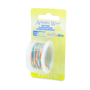 Artistic Wire, 22 Gauge (0.64 mm), Multicolor, Blue, Red, Gold, 6 yd (5.5 m)
