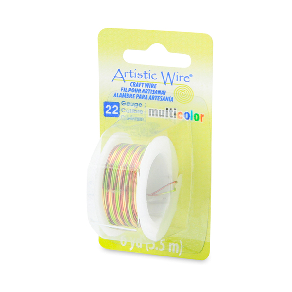 Artistic Wire, 22 Gauge (0.64 mm), Multicolor, Brown, Green, Gold, 6 yd (5.5 m)