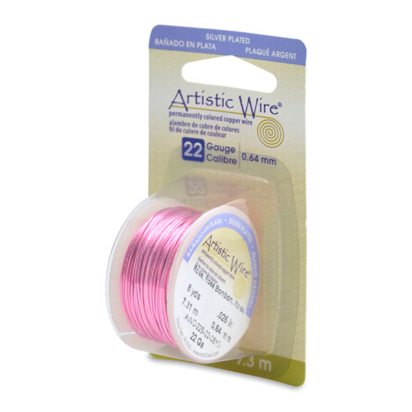 Artistic Wire, 22 Gauge (.64mm), Silver Plated, Rose, 8 yd (7.3m)