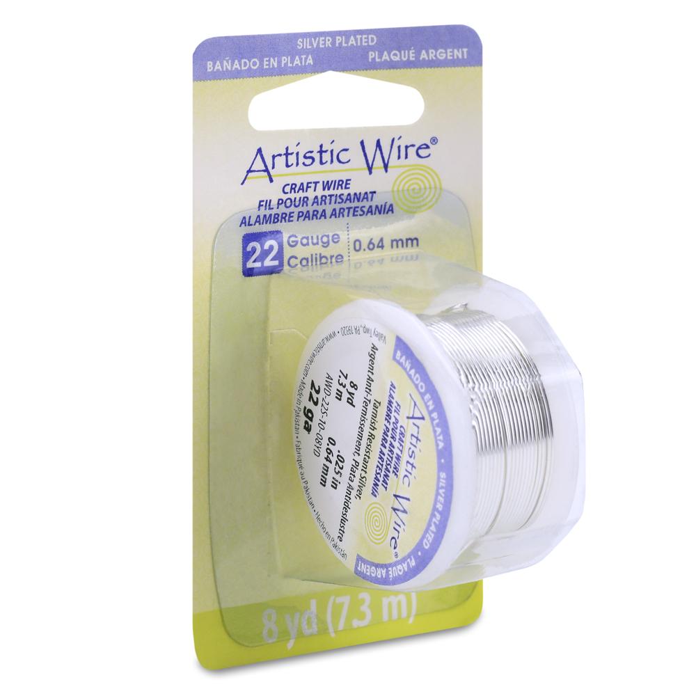 10-Yard Artistic Wire 22-Gauge Tarnish Resistant Silver Wire