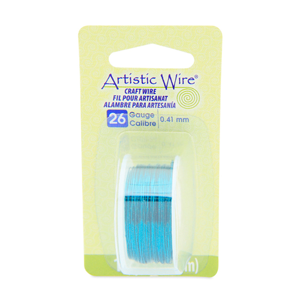 Artistic Wire, 26 Gauge (.41 mm), Aqua, 15 yd (13.7 m)