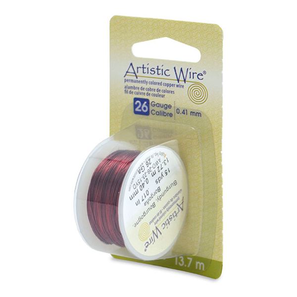 Artistic Wire, 26 Gauge (.41 mm), Burgundy, 15 yd (13.7 m)