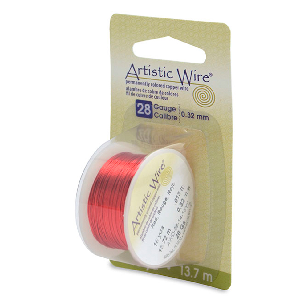 Artistic wire 28 gauge red artistic wire 28 gauge 32 mm red 15 yd 137 m keyboard keysfo Image collections