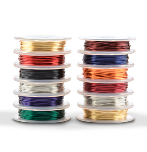 Artistic Wire, 26 Gauge (.41 mm), Assorted Colors, 12 Retail Spools, 30 yd (27.4 m) each