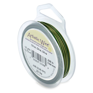 Artistic Wire, 22 Gauge (.64 mm), Olive, 15 yd (13.7 m)