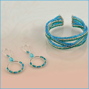 Blue Skies Bracelet and Earrings