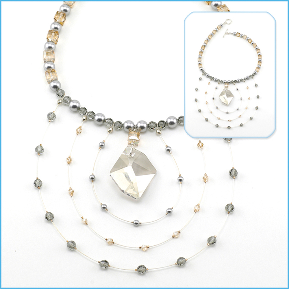 Wire Jewelry Making Instructions Smoke And Ice Necklace