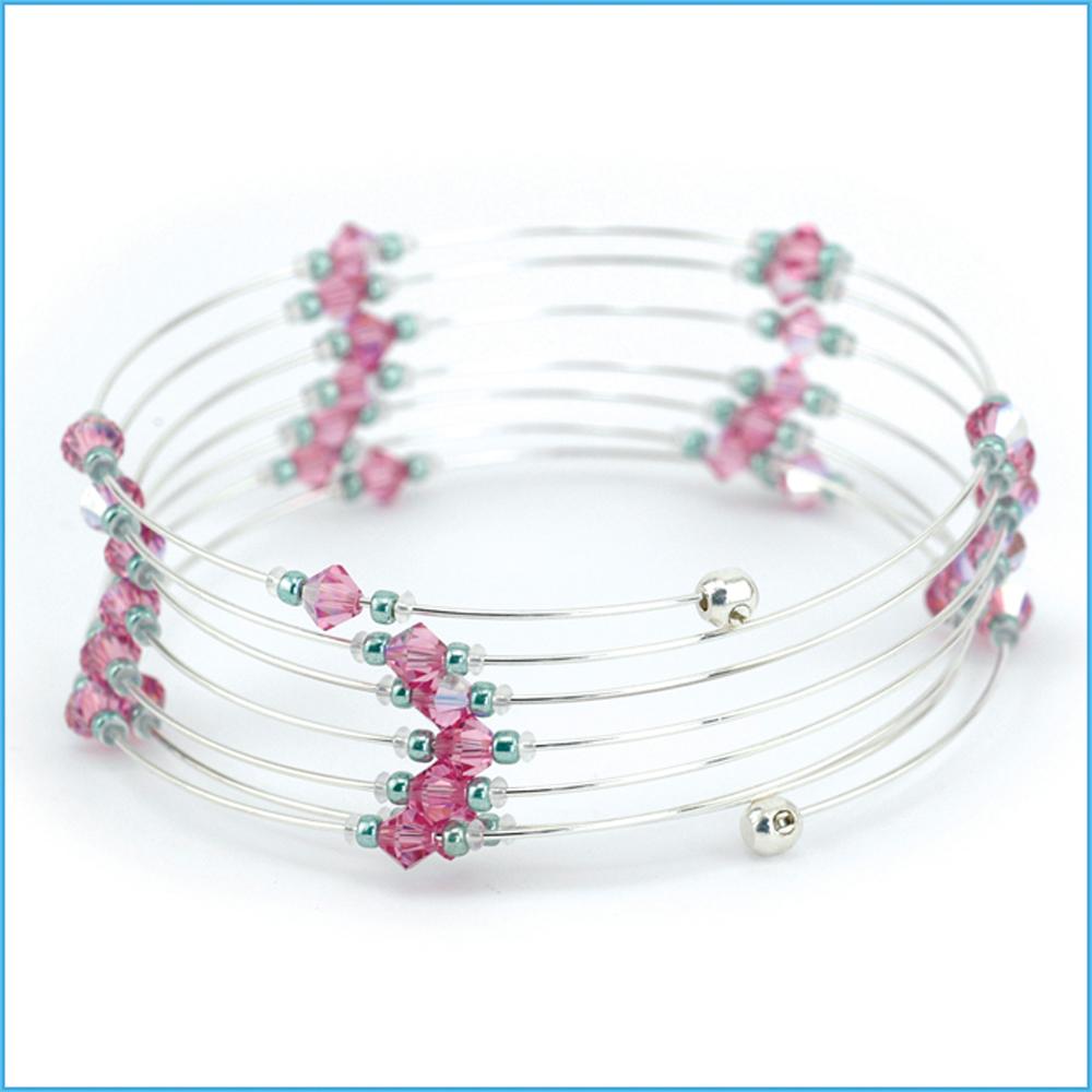 Memory Wire End Cap Bracelet