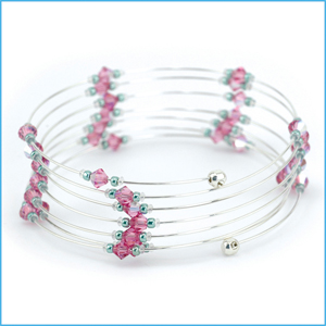 Memory Wire End Cap Bracelet