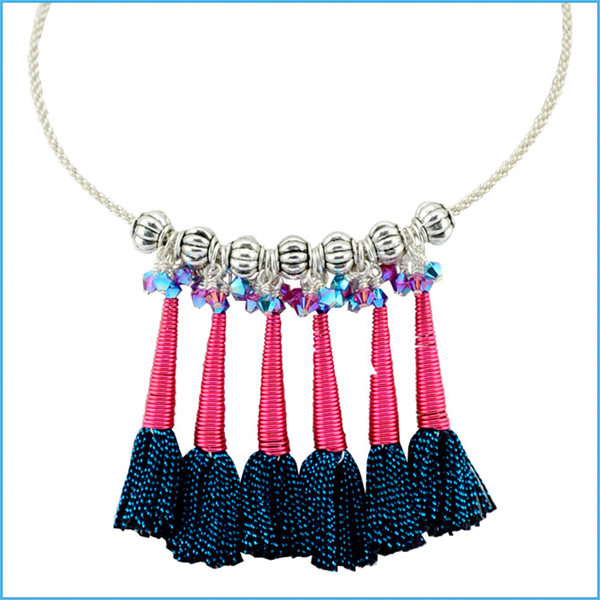 Cone Tassel Necklace