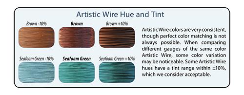 Beadalon 18-Gauge Artistic Wire Phosphor Bronze 1//4-Pound