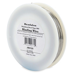 Stainless Steel Binding Wire, .0125 in (0.32 mm), Type 304 Stainless Steel, 8 oz (227 g), 1165 ft (355 m)