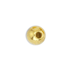 Memory Wire End Caps, 3 mm (.12 in), Round, Gold Color, 10 pc