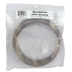 Remembrance Memory Wire, Round, Necklace, Large, Bright, 8 oz (227 g), appx 33 coils/oz
