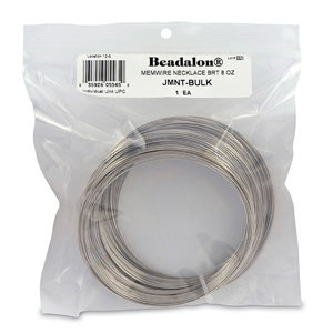 Remembrance Memory Wire, Round, Necklace, Bright, 8 oz (227 g), appx 36 coils/oz