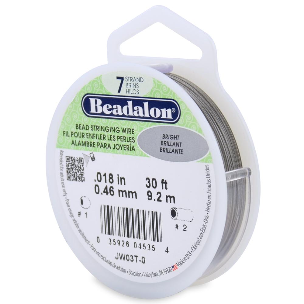 Beadalon JW06T-8 7-Strand Bead Stringing Wire Bright 1000-Feet 0.024-Inch