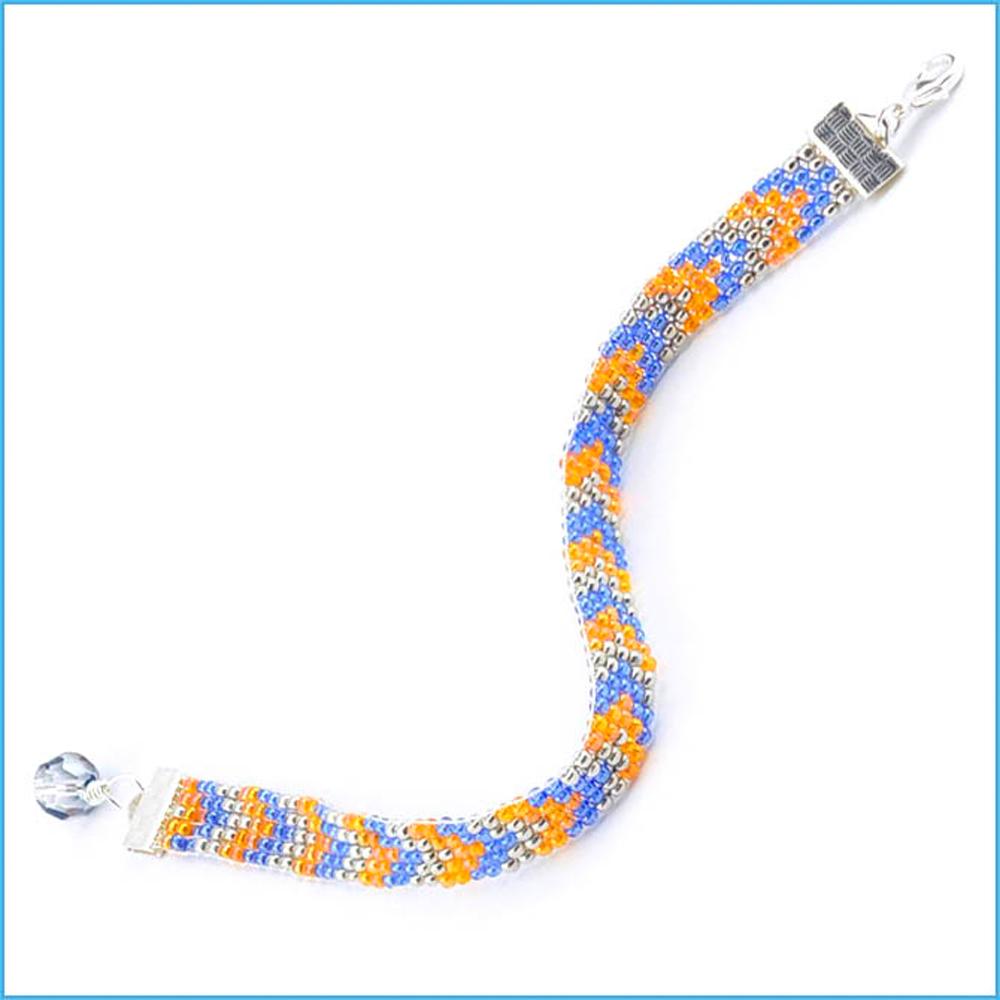 image regarding Free Printable Bead Loom Patterns named Free of charge Seed Bead Loom Practices - Chevron Loom Bracelet