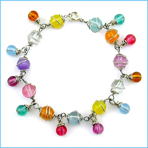Colorful Wire Wrapped Bracelet