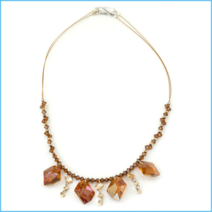 Copper Droplets Necklace