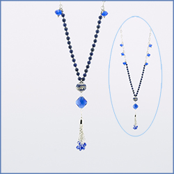 Knotter Tool Blue Tassel Necklace