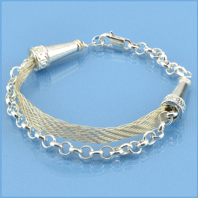 Braiding Wire Jewelry - Kumihimo Flat Braid and Chain
