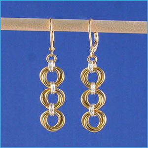 Tri-Mobius Chain Maille Earrings