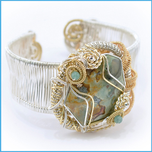 German Style Wrapped Stone Cuff