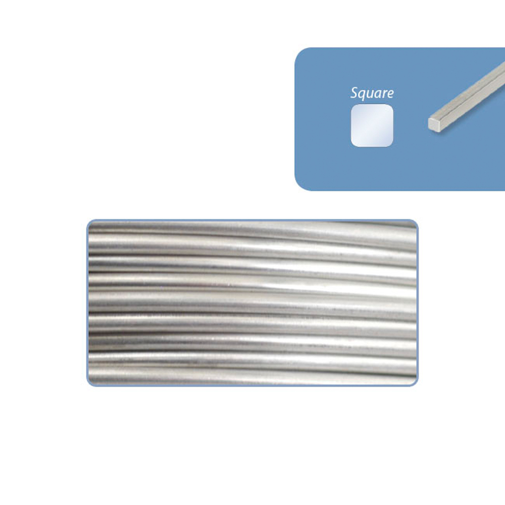 316l stainless steel wrapping wire square beadalon 316l stainless steel wrapping wire square 24 gauge 020 in 51 mm 182 ft 55 m 14 lb 11 kg greentooth Gallery