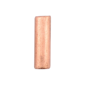 AW Lg Wire Crimp Tubes,10mm (.4 in), Bare Copper, for 12 ga wire, ID 2.2mm (.086 in), 55pc