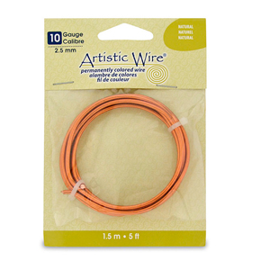 Artistic Wire, 10 Gauge (2.6 mm), Natural, 5 ft (1.5 m)
