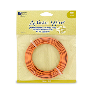 Artistic Wire, 10 Gauge (2.6 mm), Natural, 25 ft (7.6 m)