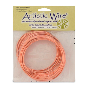 Artistic Wire, 10 Gauge (2.6 mm), Bare Copper, 25 ft (7.6 m)