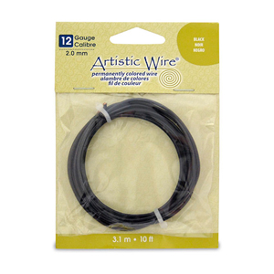 Artistic Wire, 12 Gauge (2.1 mm), Black, 10 ft (3.1 m)