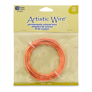 Artistic Wire, 12 Gauge (2.1 mm), Natural, 25 ft (7.6 m)