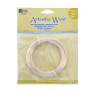 Artistic Wire, 12 Gauge (2.1 mm), Silver Plated, Tarnish Resistant Silver, 25 ft (7.6 m)
